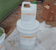 Five-gallon synthetic turf adhesive